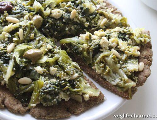 Pizza senza glutine e senza lievito cotta in padella