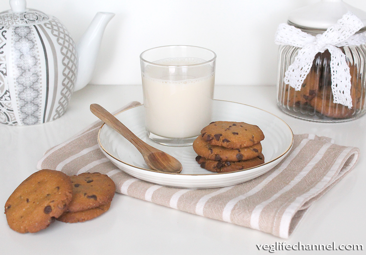 Chocolate chips cookies vegan senza glutine senza lattosio