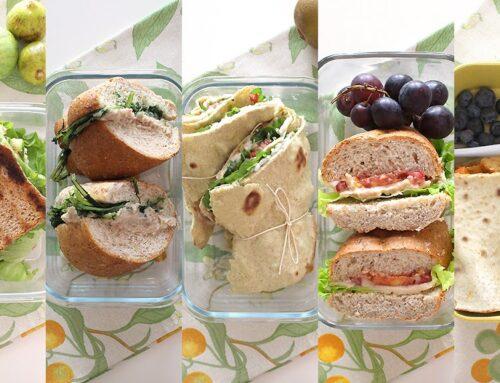 5 Idee pranzi sani e veloci (lunch box per la scuola o il lavoro)